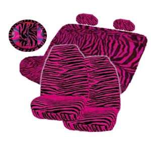 Zebra High Back Front Seat Covers and Bench Seat Cover Set Automotive
