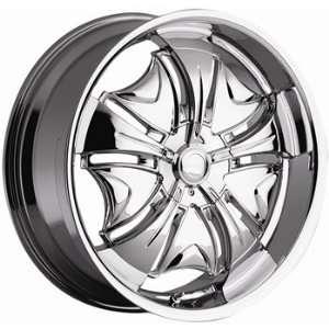 Cattivo 723 22x8.5 Chrome Wheel / Rim 5x112 & 5x4.5 with a 35mm Offset