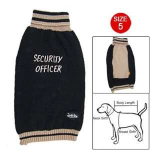 Como Dog Pet Size 5 Black Brown Ribbing Sweater Costume