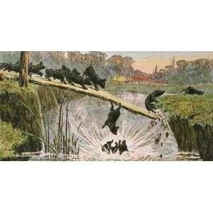 Terrible Catastrophe Pigs Etching Berkeley, Stanley Animals, Dogs