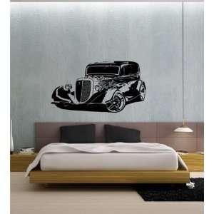 Wall Vinyl Sticker Decal Mural Ols Classic Car Hot Rod Racing Sport