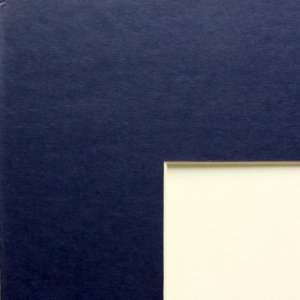 Matting Navy Blue Mat Board Custom cut for 13x27 Picture