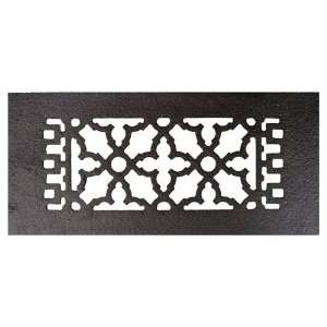 Black 12 x 5 1/2 Cast Iron Decorative Grille with Screw Holes Home