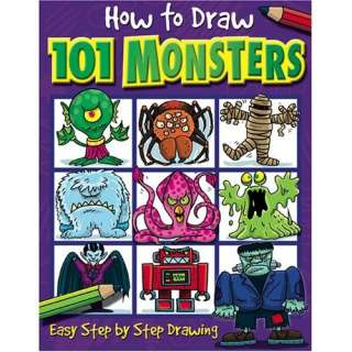How to Draw 101 Monsters: Easy Step by step Drawing