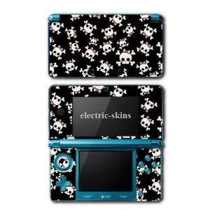 Nintendo 3DS Skins   Girl Skulls Pink Bow crossbones Cute