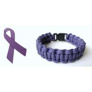 8 Alzheimers Awareness Paracord Bracelet