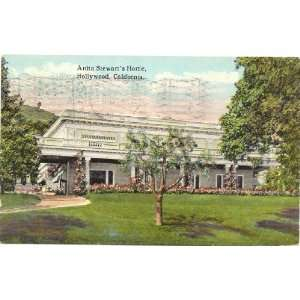 1920s Vintage Postcard Home of Silent Film Star Anita