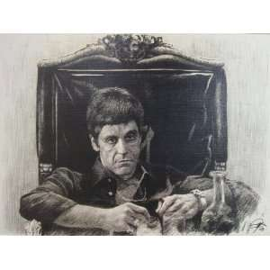Scarface (1983)   Al Pacino in chair Sketch Portrait