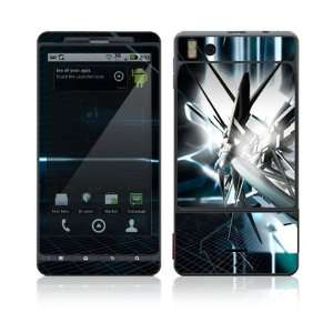Droid X Skin Decal Sticker   Abstract Tech City