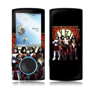 Sansa View  16 30GB  KISS  Love Gun Skin MP3 Players & Accessories