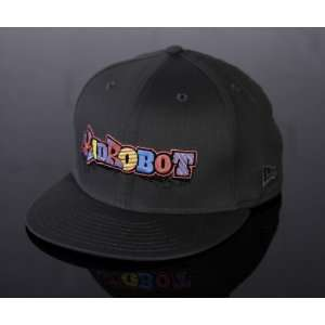 Mens Amped Logo Snapback Hat in Charcoal Kidrobot Amped Hat Jewelry