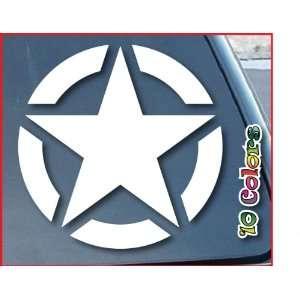 Army Star Car Window Vinyl Decal Sticker 5 Wide (Color