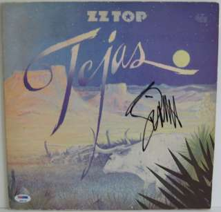 BILLY GIBBONS Signed ZZ TOP Tejas Album LP PSA/DNA