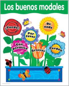 GOOD MANNERS Modales SPANISH Poster Chart CTP NEW