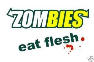 ZOMBIES EAT FLESH SUBWAY LOGO T SHIRT ZOMBIE