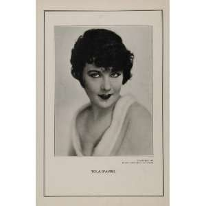 1927 Silent Film Star Yola DAvril First National