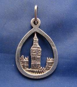 Vintage Silver Big Ben London Charm AVON 925