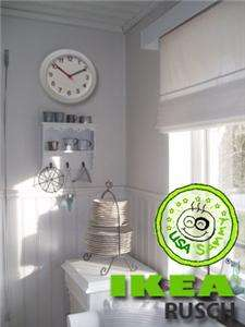 IKEA CONTEMPORARY MODERN DESIGN CLEAR WALL CLOCK TIME