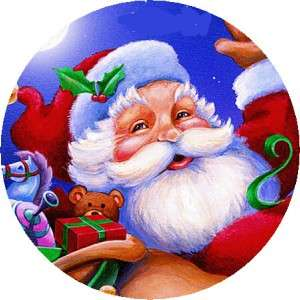 SANTA CLAUSE #4   1 STICKER / SEAL LABELS ~ LASER PRINTED