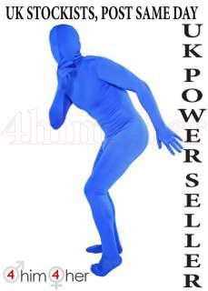 Blue Full Bodysuit Lycra/Spandex Zentai Body Suit