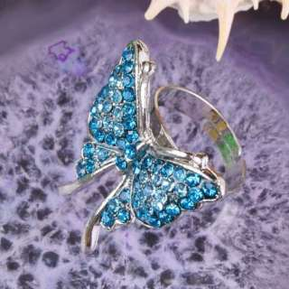 type crystal glass ring size approx 7 10 for ring adjustable 28x26mm