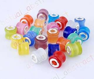 FREE cat eye beads 5mm FIT CHARMS BRACELET 24pcs