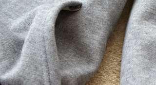 Grey Women Ladies Deer Long Hoodie Coat Sweatshirt Japan 1028