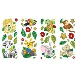 Cute Zootles Baby Zoo Animal Jungle Safari Wall Decals Wall Art Baby