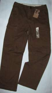 DOCKERS D2 Flat Front STRAIGHT Fit Brown CARGO Pants NWT Mens 30 x 32