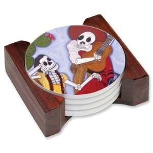 de los Muertos Day of Dead Drink Coaster Set