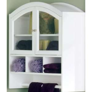 White Arched Bathroom Cabinet Home & Kitchen