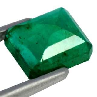 45 cts Natural Top Green Zambian Mined Emerald Gemstone Octagon Cut