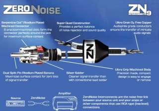 ZN9235 2 Ch RCA Car Audio Cable/Wire 11 Ft 715442142163