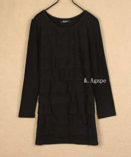 T1881 New Stylish Lady Round Neck Long Sleeve Dress White