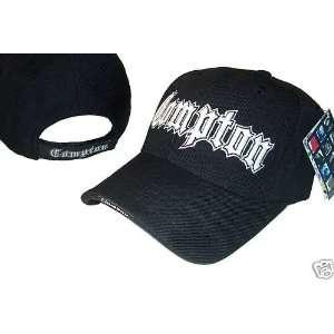 Black & White Adjustable Compton Baseball Cap Hat