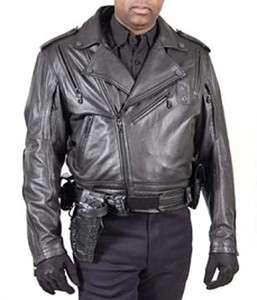 Harley Davidson Police Tech Gear Mens Enforcer Black Leather Jacket