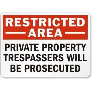 Restricted Area Private Property Trespassers Will Be