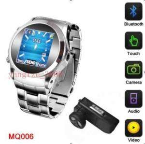 MQ006 Watch Cell Phone Quad Band GSM Touch Screen Unlocked Hidde