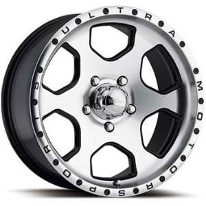 Ultra Rouge 16x8 Machined Black Wheel / Rim 7x150 with a  6mm Offset