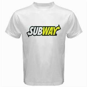 SUBWAY Logo New White T Shirt Size  2XL