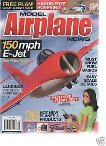 Model Airplane News 150 mph E jet may 2009