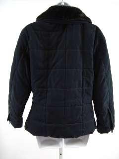 ANDREW MARC Black Quilted Faux Fur Trim Jacket Coat XS