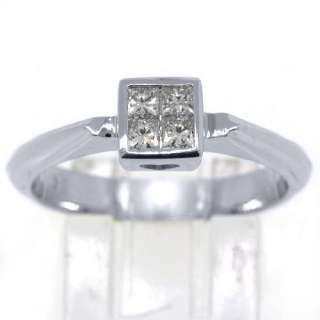 2CT WOMENS SOLITAIRE PRINCESS SQUARE CUT DIAMOND ENGAGEMENT RING