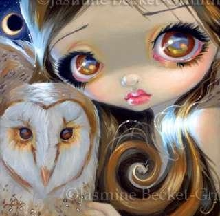 Fairy Face 176 Jasmine Becket Griffith Big Eye Owl Moon Fairy SIGNED