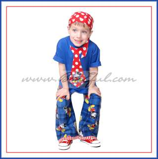 *MICKEY MOUSE Fabric Vacation NEW Resell Boy Lounge Outfit