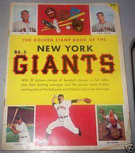 1955 New York Giants Golden Stamp Book