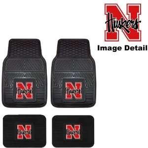 UN University of Nebraska Cornhuskers Front & Rear Car Truck SUV Vinyl