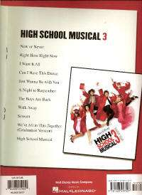 HIGH SCHOOL MUSICAL 3 Movie Song Lyrics Sheet Music PVG