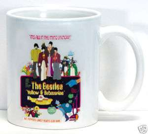Beatles Vintage Yellow Submarine Poster Coffee Cup Mug