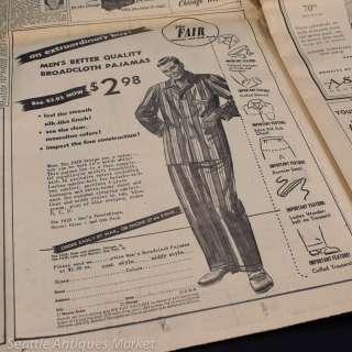 1948 DEWEY DEFEATS TRUMAN ~ Chicago Tribune Newspaper ~ Genuine